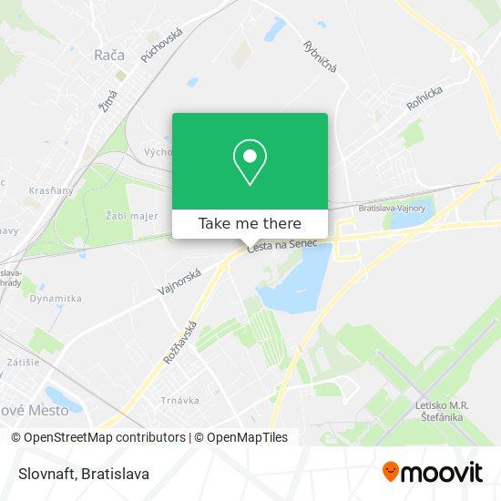 Slovnaft map