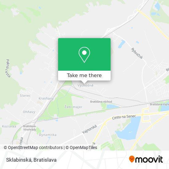 Sklabinská map