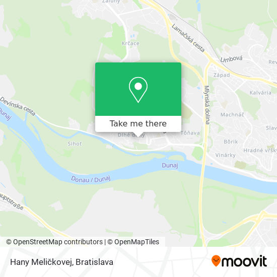Hany Meličkovej map