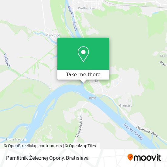Pamätník Železnej Opony map