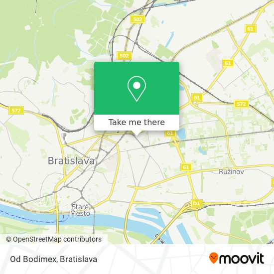 Od Bodimex map