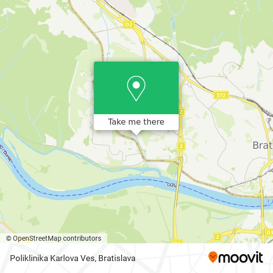 Poliklinika Karlova Ves map
