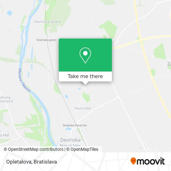 Opletalova map
