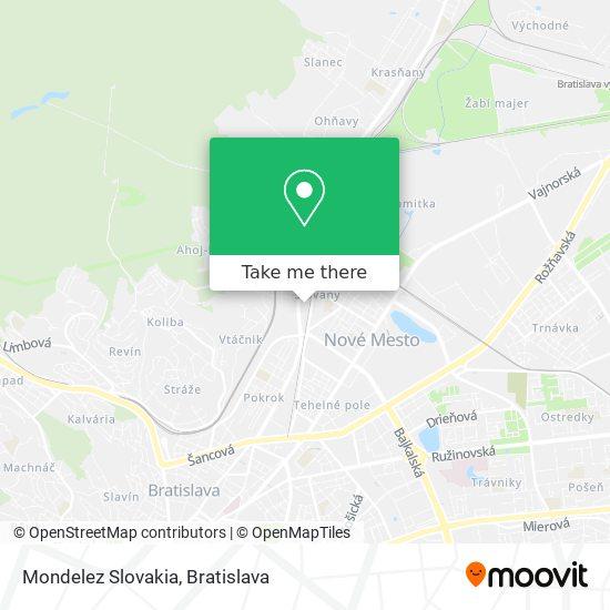 Mondelez Slovakia map