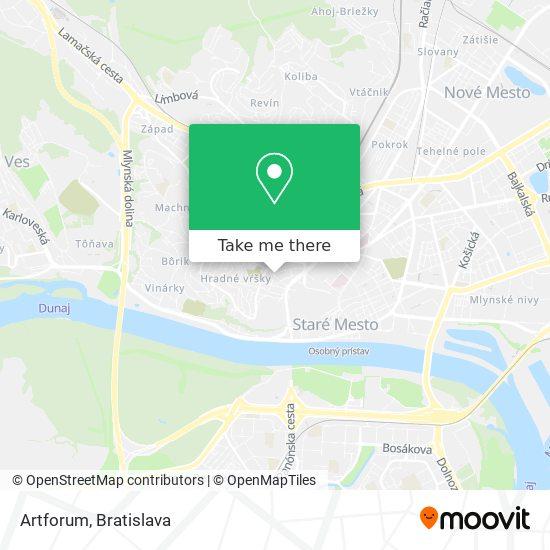 Artforum map