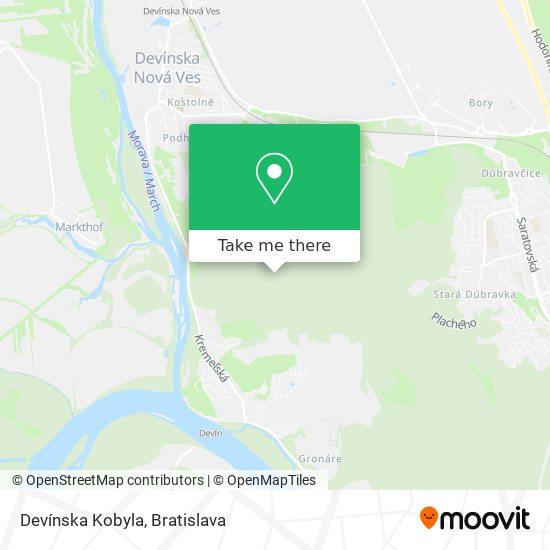 Devínska Kobyla map