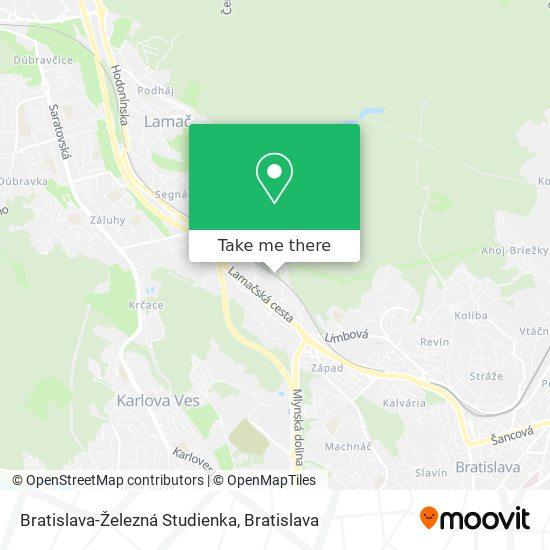 Bratislava-Železná Studienka map