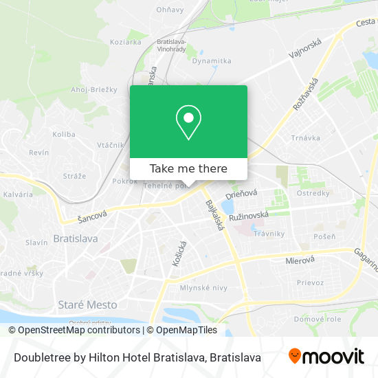 Doubletree Hilton map