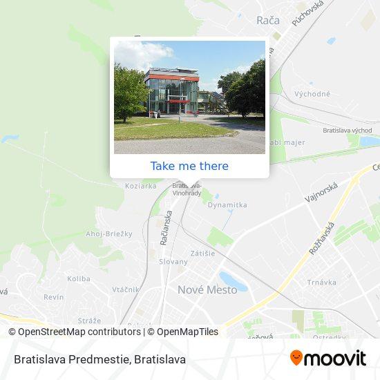 Bratislava Predmestie map