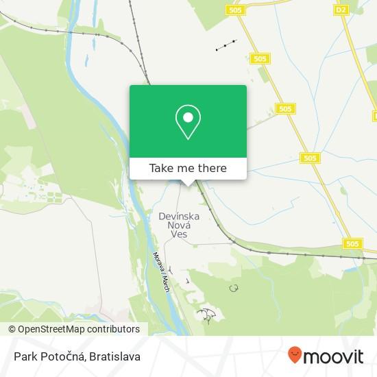 Park Potočná mapa