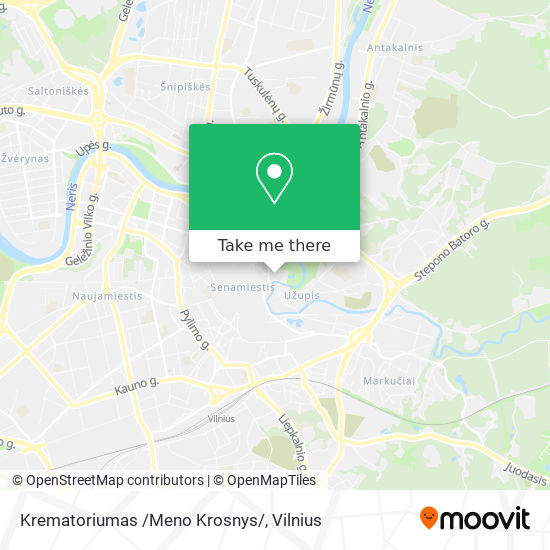 Krematoriumas /Meno Krosnys/ map