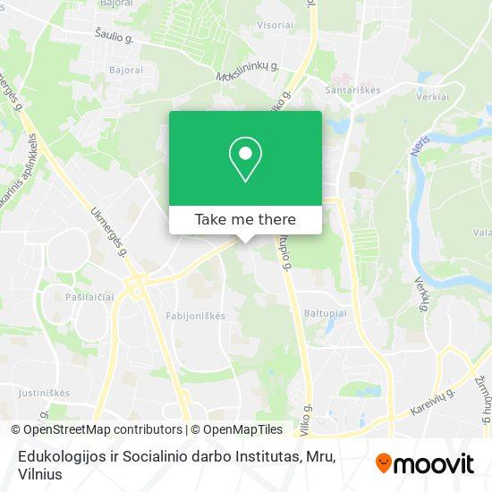 Edukologijos ir Socialinio darbo Institutas, Mru map