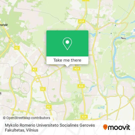 Mykolo Romerio Universiteto Socialinės Gerovės Fakultetas map