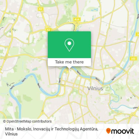 Mita - Mokslo, Inovacijų ir Technologijų Agentūra map