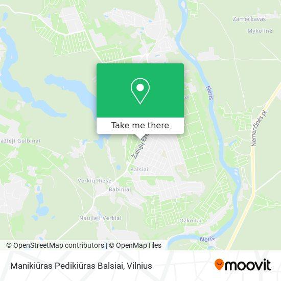 Manikiūras Pedikiūras Balsiai map