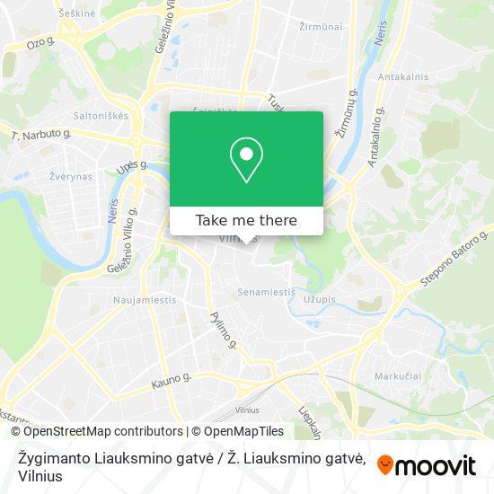 Žygimanto Liauksmino gatvė / Ž. Liauksmino gatvė map