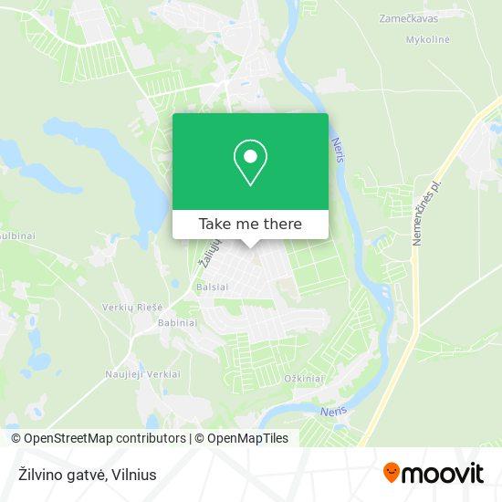 Žilvino gatvė map