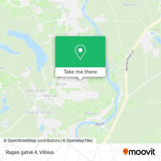 Ragės gatvė 4 map