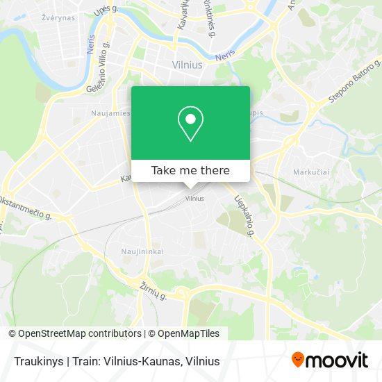 Traukinys | Train: Vilnius-Kaunas map