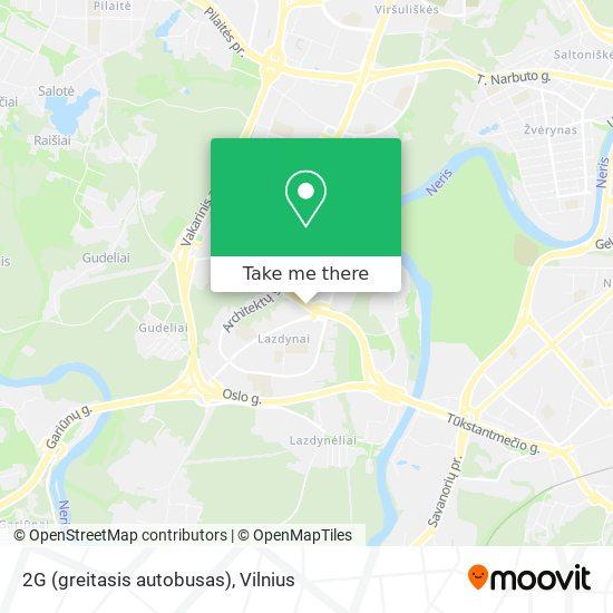 2G (greitasis autobusas) map