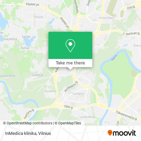 InMedica klinika map