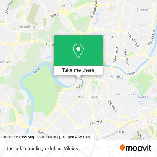 Jasinskio boulingo klubas map