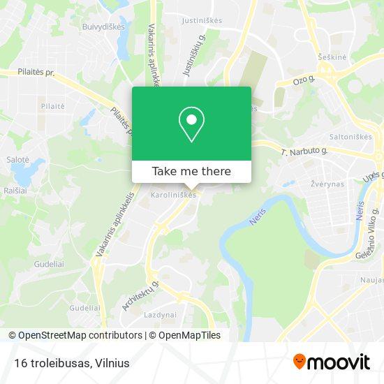 16 troleibusas map