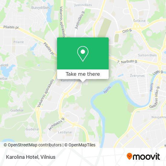 Karolina Hotel map