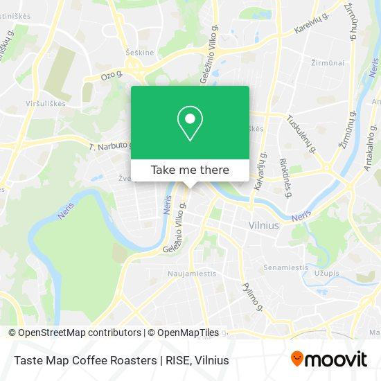 Taste Map Coffee Roasters | RISE map