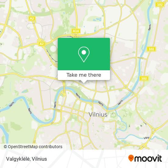 Valgyklėlė map