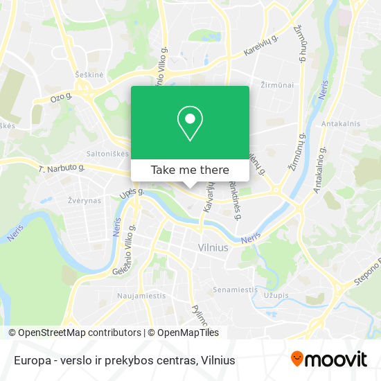 Europa - verslo ir prekybos centras map