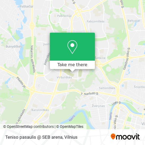 Teniso pasaulis @ SEB arena map