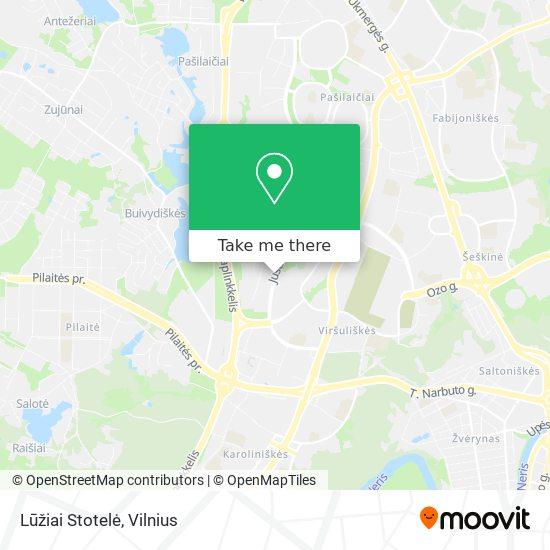 Lūžiai Stotelė map