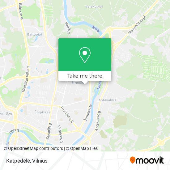 Katpėdėlė map