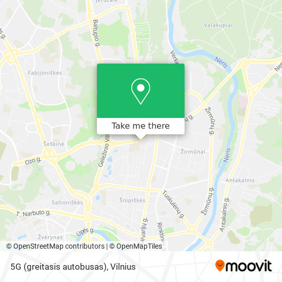 5G (greitasis autobusas) map
