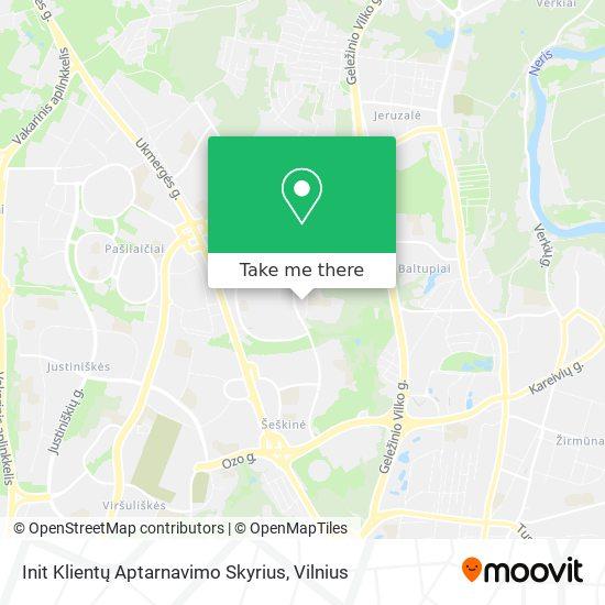 Init Klientų Aptarnavimo Skyrius map