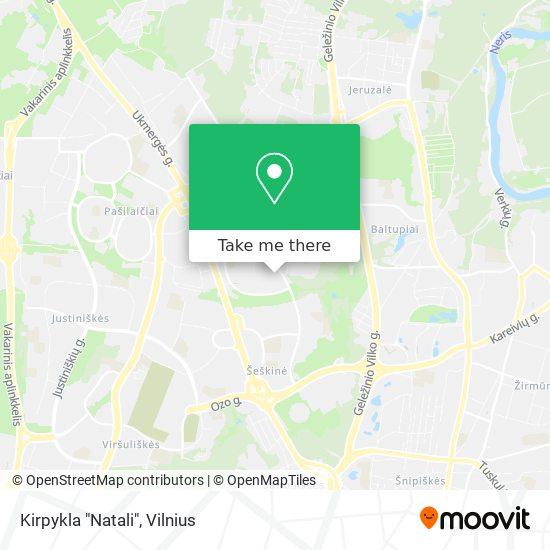 """Kirpykla """"Natali"""" map"""