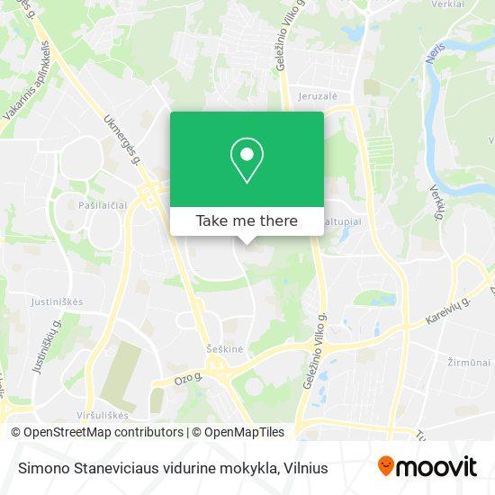 Simono Staneviciaus vidurine mokykla map