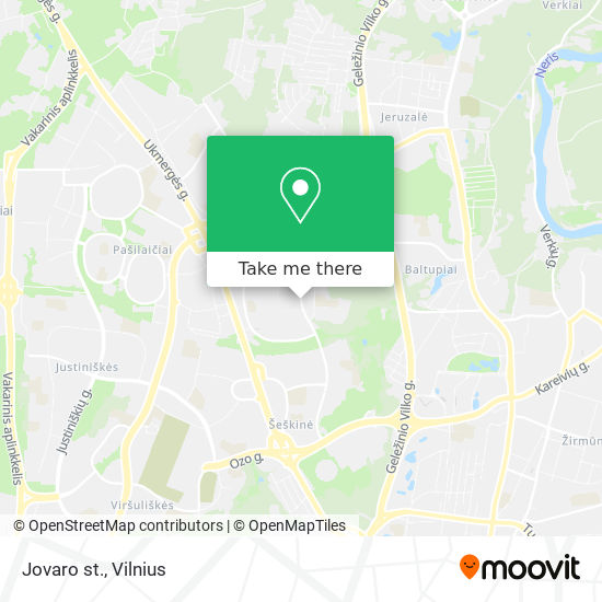 Jovaro st. map