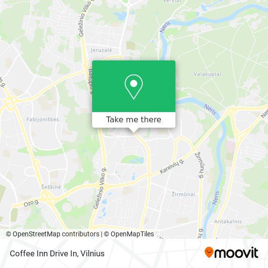 Coffee Inn Drive In map