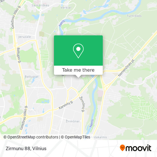 Zirmunu 88 map