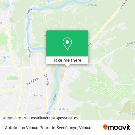 Autobusas Vilnius-Pabradė-Švenčionys map