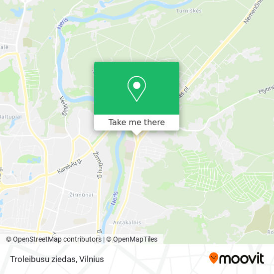 Troleibusu ziedas map