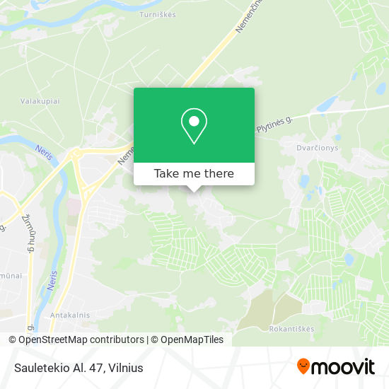 Sauletekio Al. 47 map