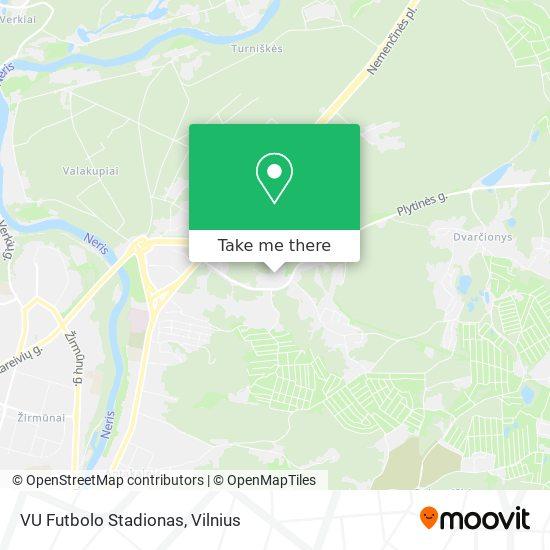 VU Futbolo Stadionas map