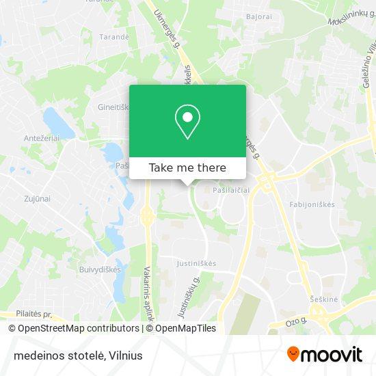 medeinos stotelė map