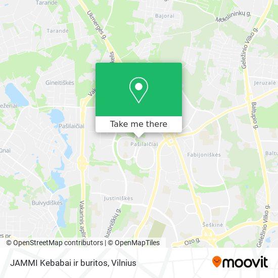JAMMI Kebabai ir buritos map
