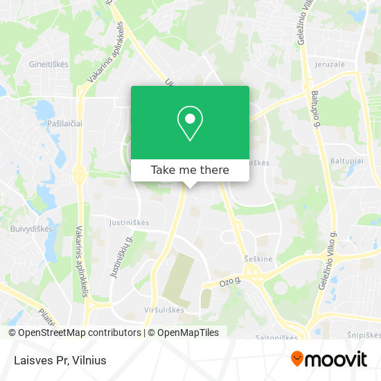 Laisves Pr map