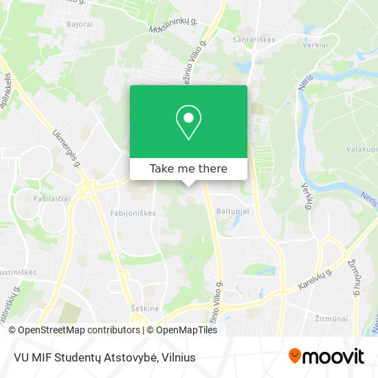 VU MIF Studentų Atstovybė map