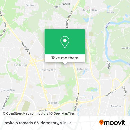 mykolo romerio 86. dormitory map